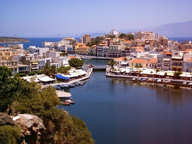 Панорама города на Крите